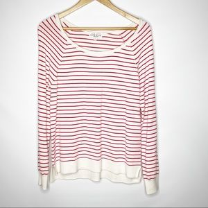 Feel the Piece Red Striped Sweater XS/S